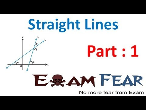 Maths Straight Lines part 1 (Introduction to Lines, Slope of line) CBSE class 11 Mathematics XI