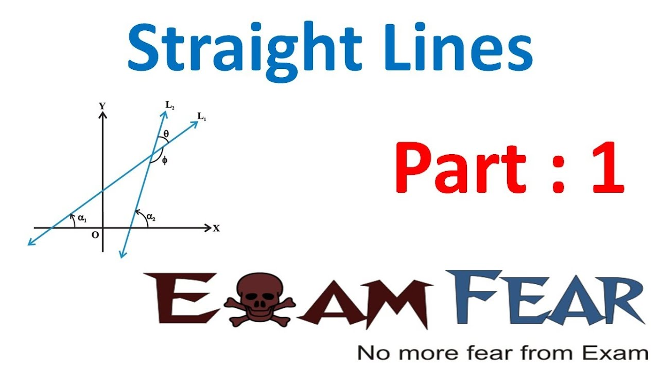 maths straight lines part 1 introduction to lines slope of line