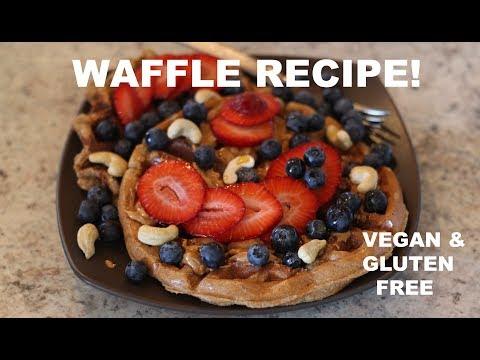 WAFFLE RECIPE: VEGAN & GLUTEN FREE|  Cooking with Sage and Sandi Ep. 1