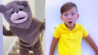СЕНЕ ПОДАРИЛИ Непослушного Медведя Тедди! Сеня Этому не РАД!