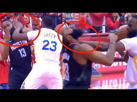 Draymond Green Wants to Fight James Harden 67 Seconds into The Game (Random Moments week 13)