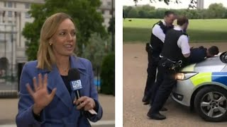 video: Watch: Journalist assaulted live on air in London