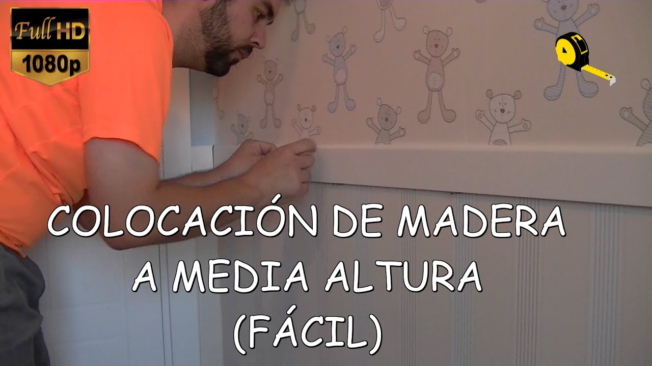 Como colocar madera en la pared youtube - Como forrar una pared con madera ...