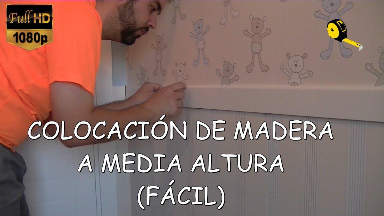 COMO COLOCAR MADERA EN LA PARED  YouTube