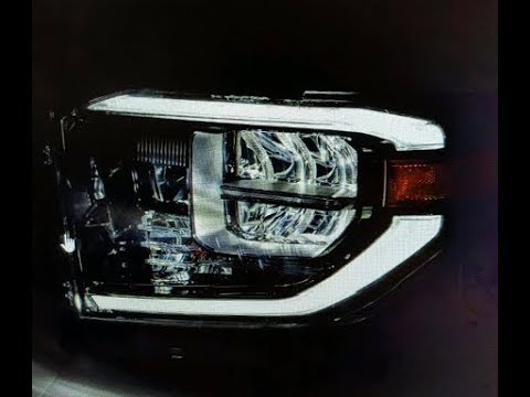 2016 Toyota Tundra With 2018 LED Headlights