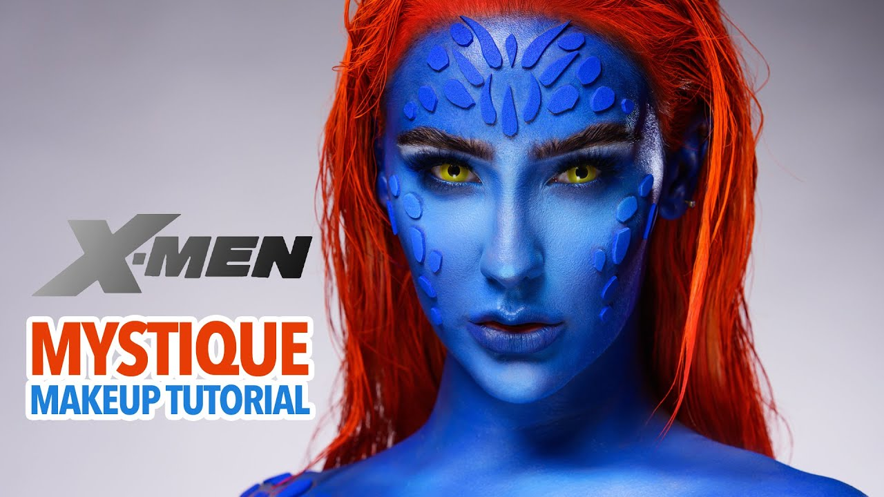 Mystique (X-Men) Makeup Tutorial
