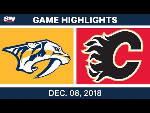 NHL Highlights | Predators vs. Flames - Dec 8, 2018