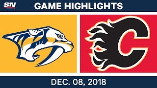 NHL Highlights | Predators vs. Flames - Dec 8, 2018