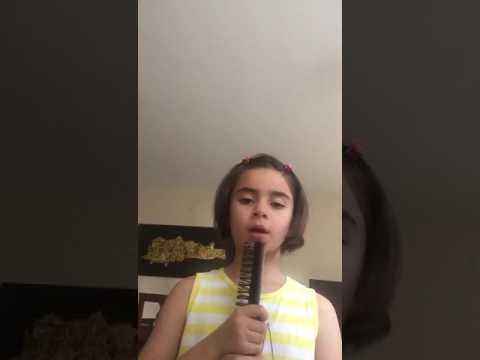 Mucize uğur böceği ve kara kedinin şarkısını söyleyen kız!