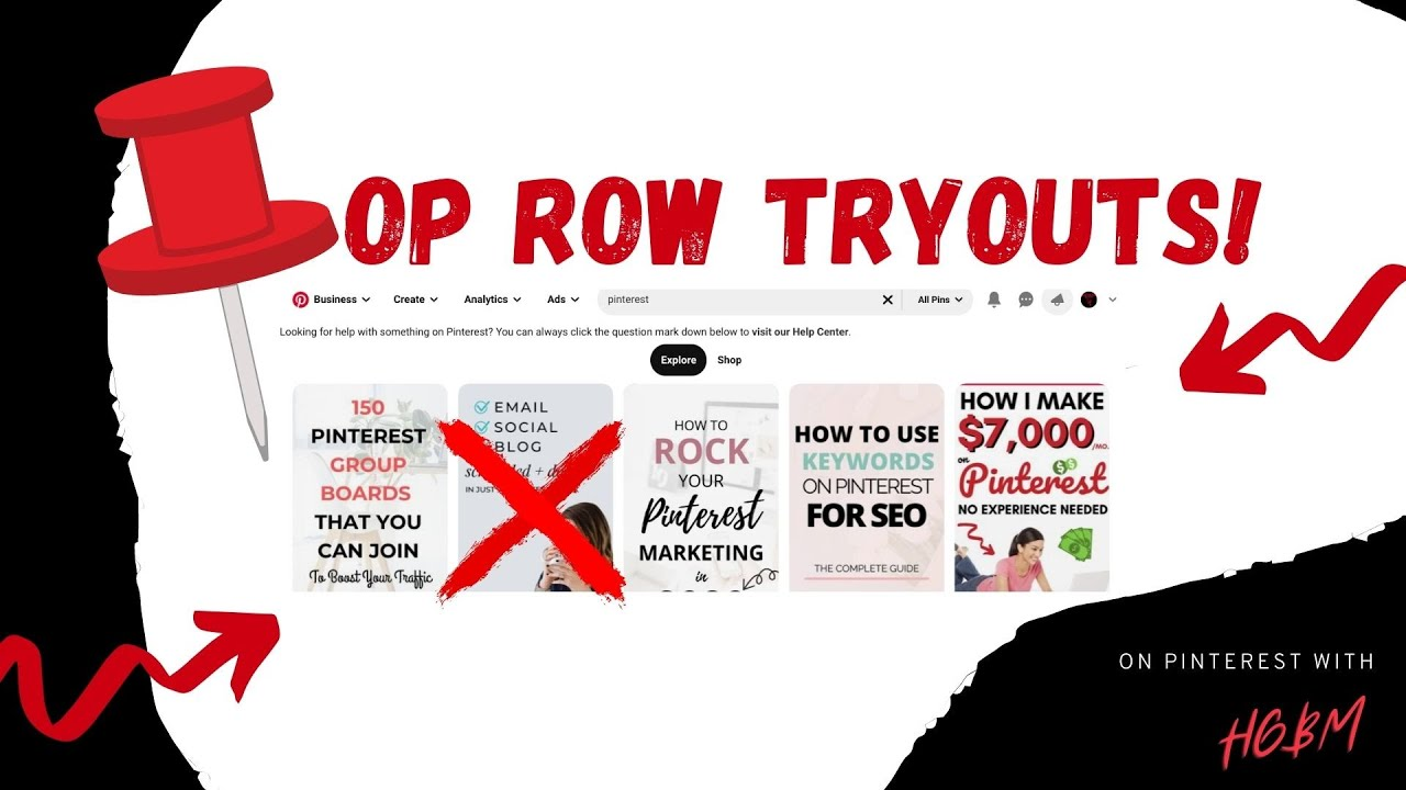 Top Row Tryouts Pinterest - Episode 001