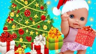 Куклы Пупсики Наряжают ёлку Новый Год 2017 Поют Песенка В Лесу Родилась Елочка для детей Зырики ТВ