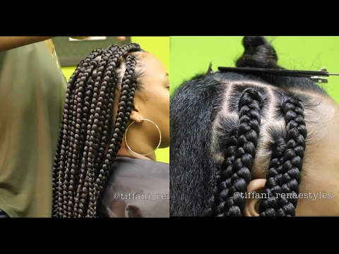 How To Jumbo Box Braids 2018