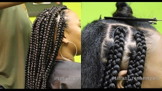 how to   jumbo box braids