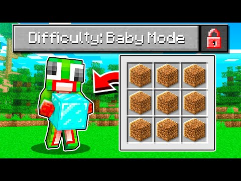 """I Beat Minecraft In 5 Minutes! """"BABY MODE"""" CHALLENGE!"""