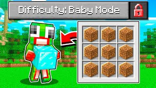 "I Beat Minecraft In 5 Minutes! ""BABY MODE"" CHALLENGE!"