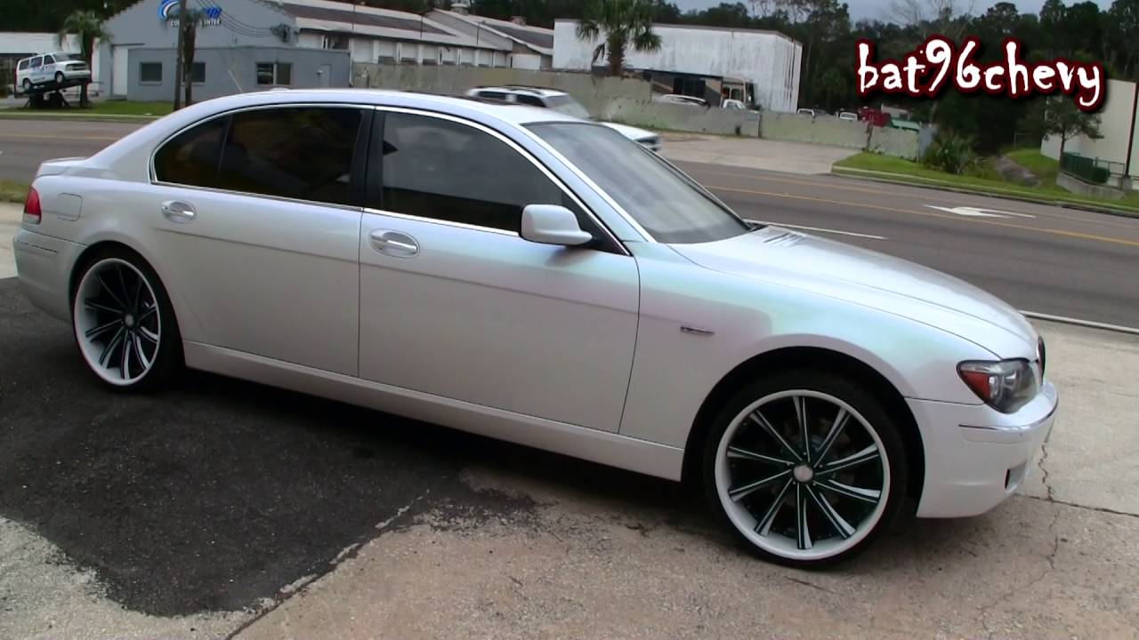 Green Pink Blue Pearl White Bmw 750li On 22 Quot Savini