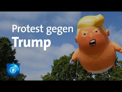 Ballon-Protest gegen Trump in London