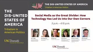 How Technology Has Led Us Into Our Own Corners. USC Panel ft Ana Kasparian
