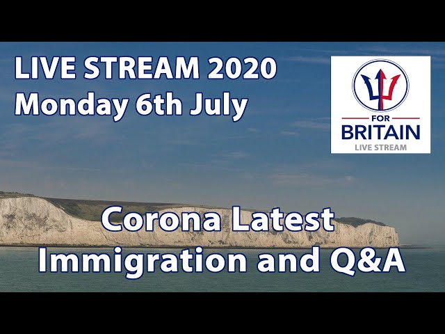 Immigration, Corona Latest // Anne Marie Waters // For Britain Live