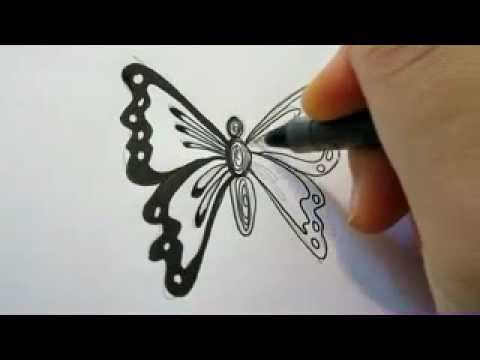 How To Draw A Butterfly The Easy Way Youtube
