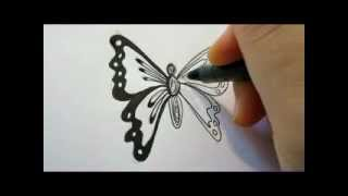 How To Draw A Butterfly - The Easy Way