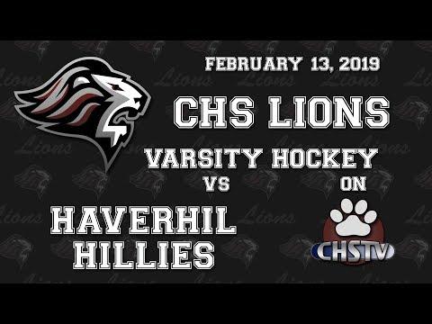 CHS Lions Girls Hockey vs Haverhill Feb 13, 2019