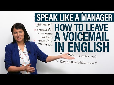 Speak like a Manager: How to leave a voicemail