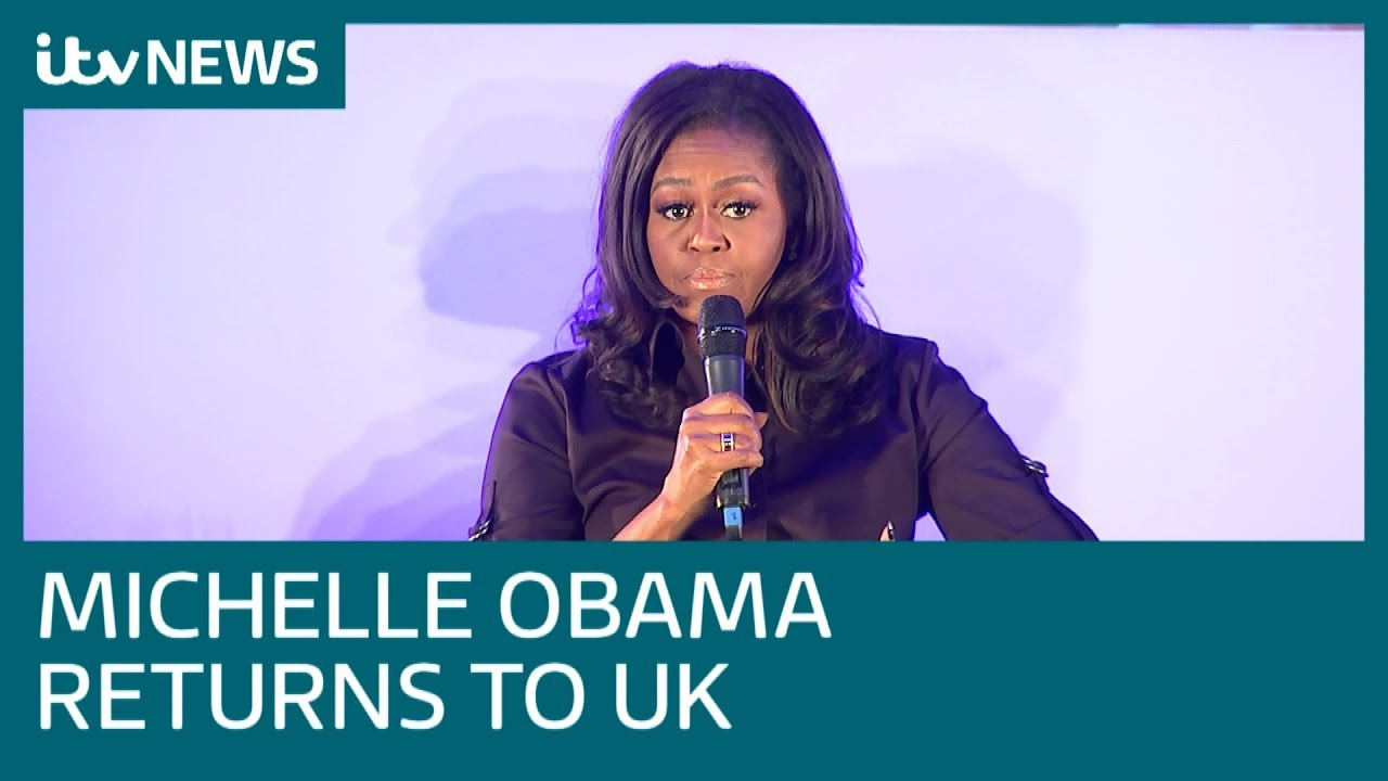 e3a543b459 Michelle Obama reunited with London schoolgirls she met in 2009 | ITV News