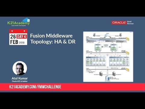 Day 4: Oracle Fusion Middleware - Topology (HA & DR) and Cloning
