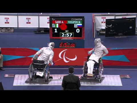 Wheelchair Fencing - RUS vs ITA - Men's Ind Sabre - Cat. B Brz Mdl - London 2012 Paralympic Games