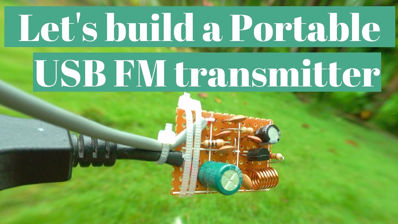 Fm Transmitter Circuit Diagram Usb Powered Demo With Youtube