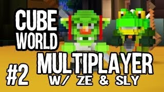 Cube World Multiplayer: Into the Caves! w/ Ze & Sly - Ep. 2