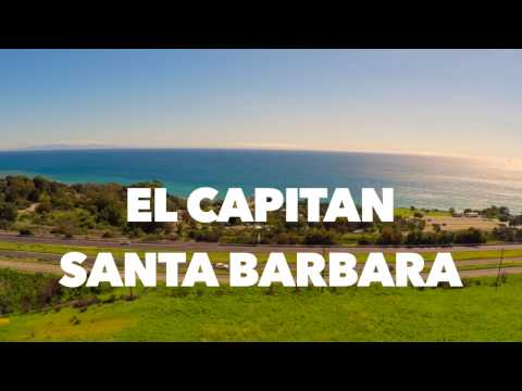 Drone flight over Santa Barbara