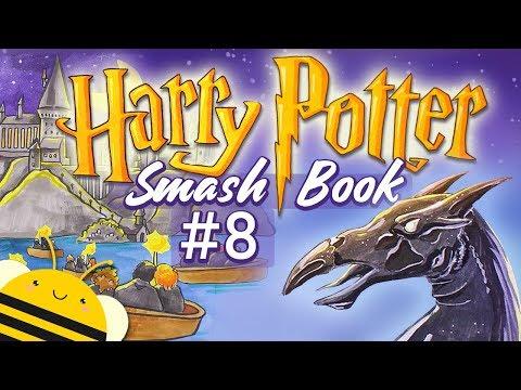 Гарри Поттер СМЕШБУК - #8  | Оформление разворота - Волшебные лодки и фестралы