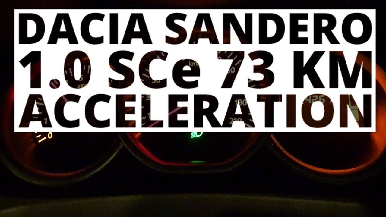 Dacia Sandero 1.0 SCe 73 KM (MT) – acceleration 0-100 km/h