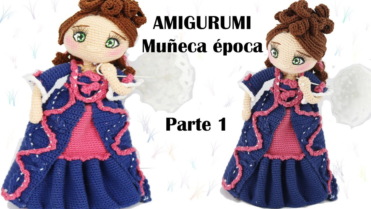 Amigurumi muñeca de época, parte 1/5 patrón gratis - YouTube