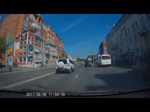 Нарушения ПДД (проезд на запрещающий сигнал светофора). Подборка #1