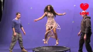 Нюша - Съемки клипа Наедине, Love radio