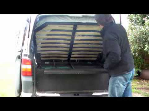 T5 Vw Transporter With Gas Lift Bed And Rear Seat Youtube