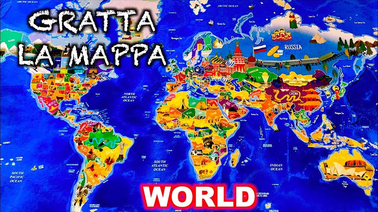 Cartina Mondo Gratta.Gratta La Mappa Mondo Scratch The Map World Youtube