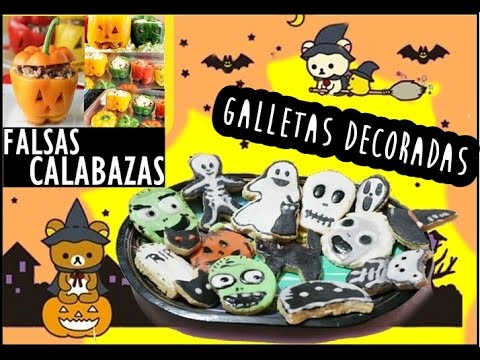Falsas calabazas galletas decoradas comida halloween - Calabazas decoradas para halloween ...