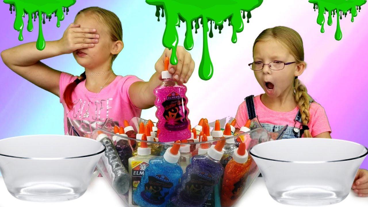 3 Colors Of Glue Slime Challenge Magic Box Toys