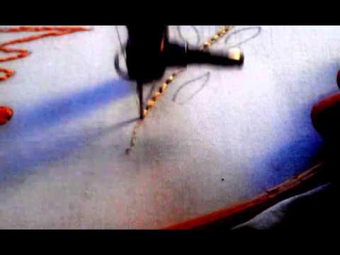 Κέντημα μηχανής με χρώμα: φουσκωτό,ανεβατό και ρίζα.