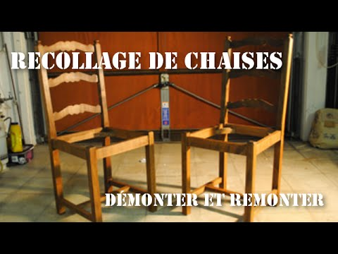 r paration recollage de chaises en bois youtube. Black Bedroom Furniture Sets. Home Design Ideas