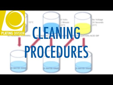Electroplating Cleaning Procedures