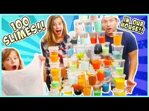 WE TURNED OUR HOUSE INTO A SLIME FACToRY!! 100 CuPS!