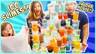 We challenge ourselves to a crazy Slime Factory by making 100 slime...