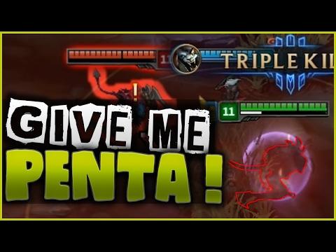 GIVE ME MY PENTA !! - Rengar Assassin Mode PBE Highlights - 동영상