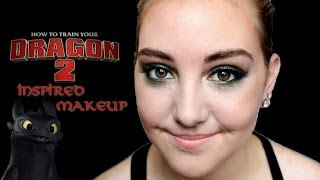 How to Train Your Dragon 2: Toothless Inspired Makeup (feat Gillian!)|| Grace&TJ Thumbnail