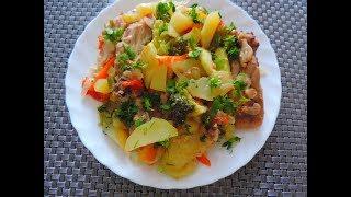 Запекаю Курицу с Овощами в рукаве.  Вкусное и полезное блюдо.